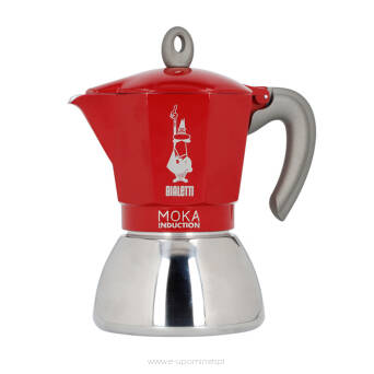 Kawiarka BIALETTI New Moka Induction 6tz Czerwona